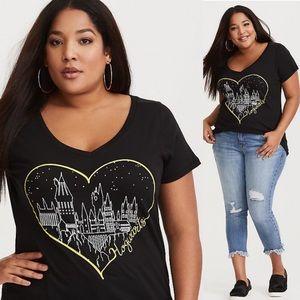 NEW Torrid Hogwarts Heart Top Womens Plus 1X
